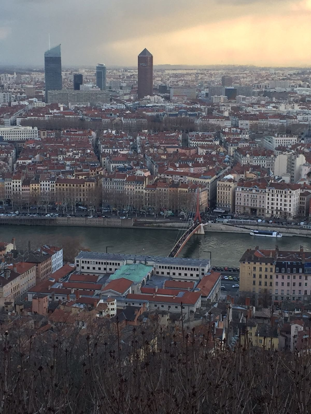 in giro per Lione, panorama